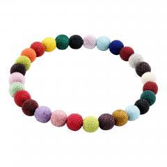 Wiener Werkst tte Wiener Werkstatte Round Beaded Necklace in Colored Beads - 287247