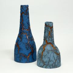 William Edwards Studio Blue Bark Bottles - 1908687