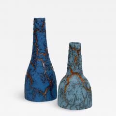 William Edwards Studio Blue Bark Bottles - 1909596
