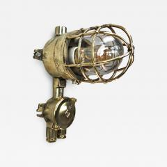 Wiska 1970s German Explosion Proof Cast Brass and Junction Box Outdoor Wall Light - 1165899