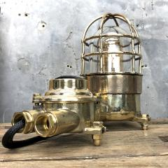 Wiska German Cast Brass Bronze Explosion Proof Table Lamp with Isolator Switch - 1158788