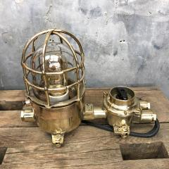 Wiska German Cast Brass Bronze Explosion Proof Table Lamp with Isolator Switch - 1158790