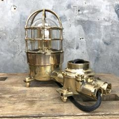 Wiska German Cast Brass Bronze Explosion Proof Table Lamp with Isolator Switch - 1158791