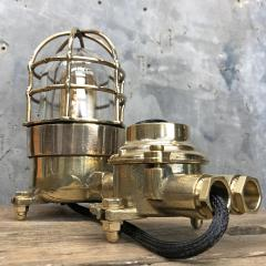 Wiska German Cast Brass Bronze Explosion Proof Table Lamp with Isolator Switch - 1158793