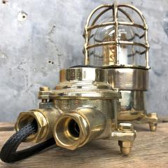 Wiska German Cast Brass Bronze Explosion Proof Table Lamp with Isolator Switch - 1158795
