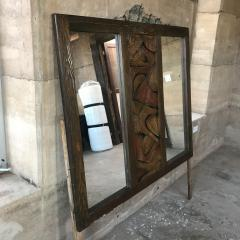 Witco WITCO Brutalist Wall MIRROR Oceanic Tropical Tiki Carved Exotic Wood 1960s - 1695667