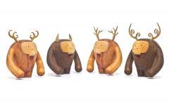 Wooda Hermanos Calavera Jefe in Walnut designed for Wooda by Miguel and Ilse Silva - 1117532