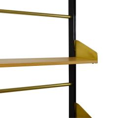 Xavier Feal Pair of Bookcase Feal with Adjustable Shelves in Wood and Aluminium - 1759787