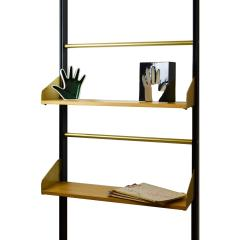 Xavier Feal Pair of Bookcase Feal with Adjustable Shelves in Wood and Aluminium - 1759788