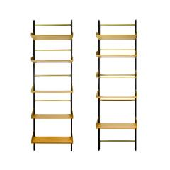 Xavier Feal Pair of Bookcase Feal with Adjustable Shelves in Wood and Aluminium - 1759789