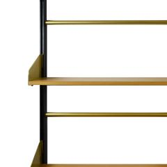 Xavier Feal Pair of Bookcase Feal with Adjustable Shelves in Wood and Aluminium - 1759790