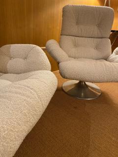Xavier Feal Pair of High Slipper Chairs France 1970s - 2007300
