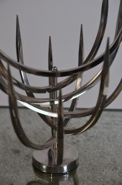 Xavier Feal Rare Polished Stainless Steel Candle Tree by Xavier Feal - 960430