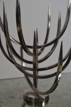Xavier Feal Rare Polished Stainless Steel Candle Tree by Xavier Feal - 960431