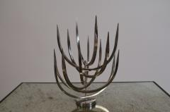 Xavier Feal Rare Polished Stainless Steel Candle Tree by Xavier Feal - 960432