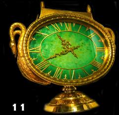 Ye Olde Timekeepers Inc 1963 Patek Philippe Jade Swan Clock - 887343