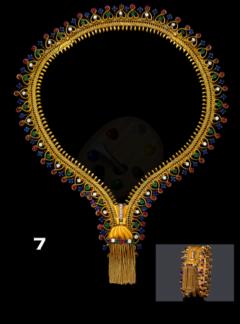 Ye Olde Timekeepers Inc 1971 Van Cleef Arpels Original Tutti Frutti Motif Zipper Necklace Bracelet - 887344