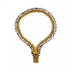 Ye Olde Timekeepers Inc 1971 Van Cleef Arpels Original Tutti Frutti Motif Zipper Necklace Bracelet - 889158