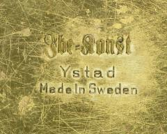 Ystad Metall Four Ystad of Sweden Brass Open Leaf Candlesticks - 92235