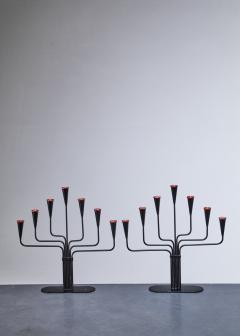 Ystad Metall Pair of Gunnar Ander candelabras for Ystad Sweden 1960s - 766938