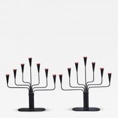 Ystad Metall Pair of Gunnar Ander candelabras for Ystad Sweden 1960s - 770105