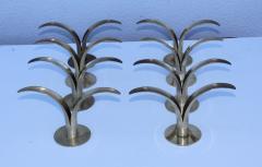 Ystad Metall Set of Eight Swedish Brass Candleholders By Ystad Metall - 870723