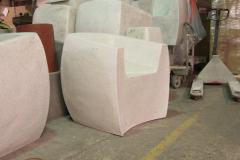 Zachary A Design Van Dyke Curved Chair - 2040587