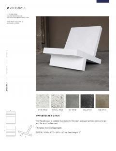 Zachary A Design Wavebreaker Chair - 2040667