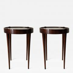 Zangerle Peterson Zangerle Peterson Chicago Pair of Round Tables Signed - 653736