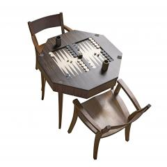 Zelouf Bell Castle Games Table with Edge Director s Chairs - 1555156