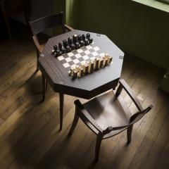 Zelouf Bell Castle Games Table with Edge Director s Chairs - 1555157