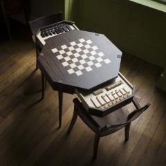 Zelouf Bell Castle Games Table with Edge Director s Chairs - 1555161