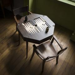 Zelouf Bell Castle Games Table with Edge Director s Chairs - 1555168
