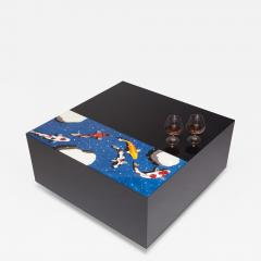 Zelouf Bell Koi Pond in the Snow Low Table - 1577120