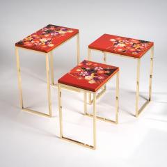 Zelouf and Bell Furniture Makers Kiku Variation Nesting Tables Orange - 1556263