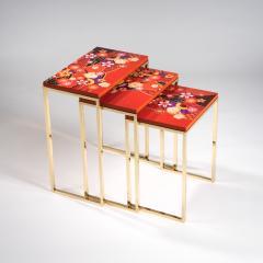 Zelouf and Bell Furniture Makers Kiku Variation Nesting Tables Orange - 1556264
