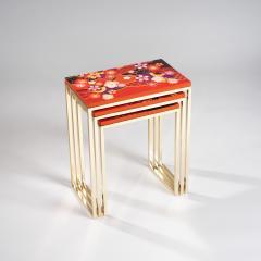 Zelouf and Bell Furniture Makers Kiku Variation Nesting Tables Orange - 1556265