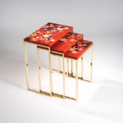 Zelouf and Bell Furniture Makers Kiku Variation Nesting Tables Orange - 1556267