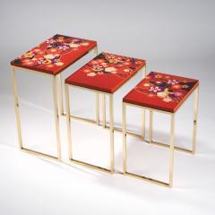 Zelouf and Bell Furniture Makers Kiku Variation Nesting Tables Orange - 1556268