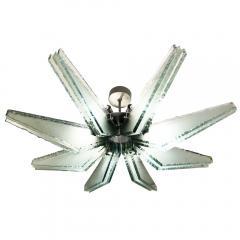 ZeroQuattro Chiseled Glass Semi Flush Mount Chandelier by ZeroQuattro - 1195554