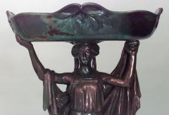 Zsolnay Art Nouveau Zsolnay Porcelain Green Iridescent Centerpiece - 515244