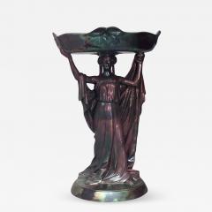 Zsolnay Art Nouveau Zsolnay Porcelain Green Iridescent Centerpiece - 518587