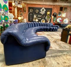 de Sede De Sede 600 non stop blue 22 element sofa 1970s - 1151717