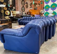 de Sede De Sede 600 non stop blue 22 element sofa 1970s - 1151719