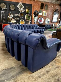 de Sede De Sede 600 non stop blue 22 element sofa 1970s - 1151721