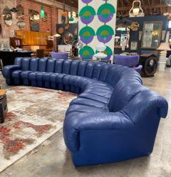 de Sede De Sede 600 non stop blue 22 element sofa 1970s - 1151722