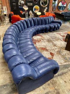 de Sede De Sede 600 non stop blue 22 element sofa 1970s - 1151723