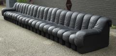 de Sede De Sede DS 600 Non Stop Tatzelwurm Sectional Sofa in Black Leather 22 Sections - 2115660