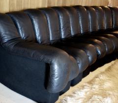 de Sede De Sede DS 600 Non Stop Tatzelwurm Sectional Sofa in Black Leather 22 Sections - 2115676
