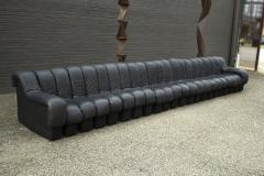 de Sede De Sede DS 600 Non Stop Tatzelwurm Sectional Sofa in Black Leather 22 Sections - 2115680